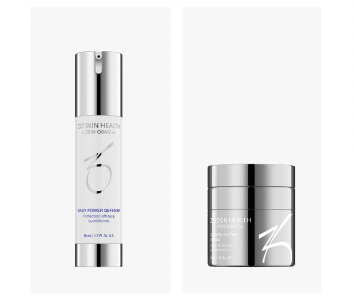 Step 2: Dr Obagi ZO® Daily Power Defense and Growth Factor Serum Before and After Picture 1